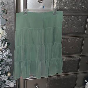 Light green salads style skirt